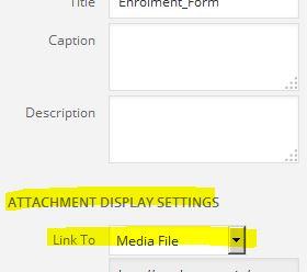 attachment settings